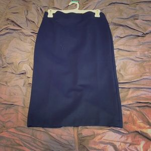 ECI New York Blue Pencil Skirt Small